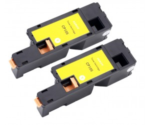 TonerGreen DocuPrint CP205 (CT201594) Yellow Compatible Printer Toner Cartridge Value Pack 2X